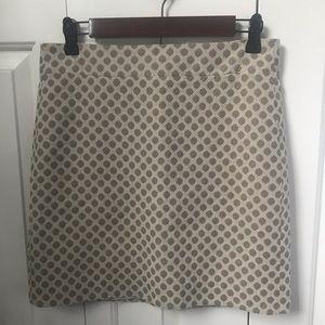 LOFT tan fully lined pencil skirt